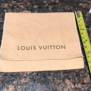 Louis Vuitton wallet dust bag